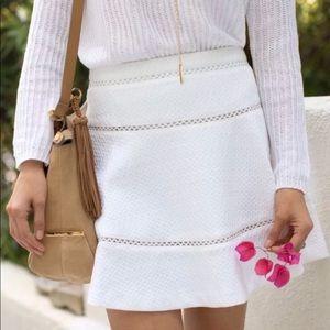 Banana Republic White Eyelet Skater Skirt